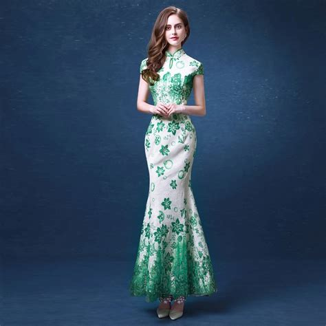 Baju Cheongsam Modern Sale aliexpress buy green modern