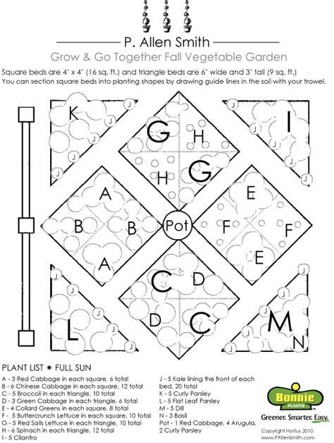 create a fall vegetable garden plan