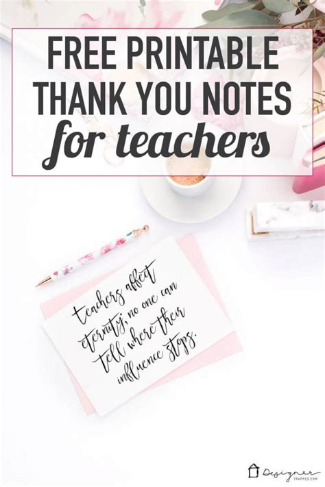 printable thank you notes for teachers to give to students best teacher gifts that they will actually love