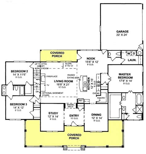 3 bedroom country floor plan 655904 3 bedroom 2 5 bath country farmhouse with split