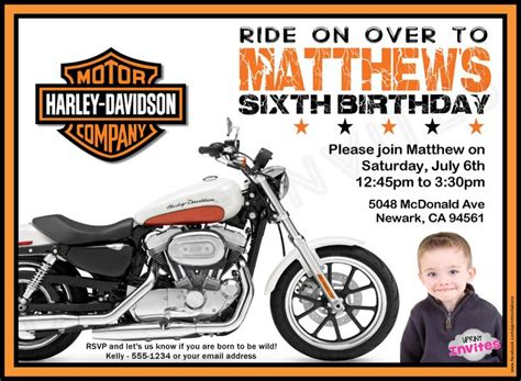 1000 Images About Ed S Party On Pinterest Motorcycle Birthday Invitation Templates