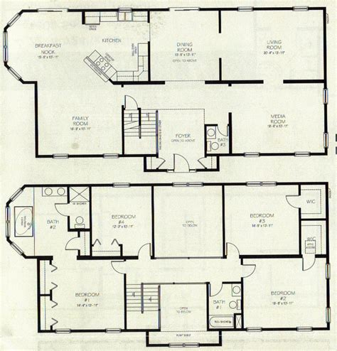2 story open floor plans two story house plans