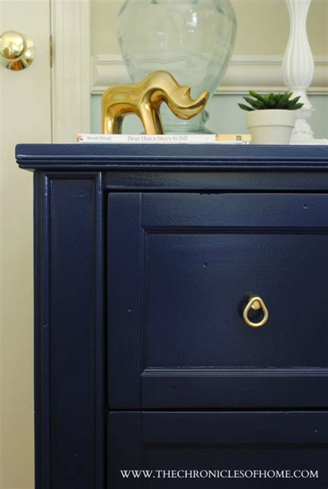 blue painted furniture navy blue nightstand
