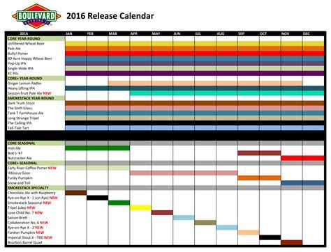 Release Calendar 2016 Release Calendar Boulevard Brewing Company