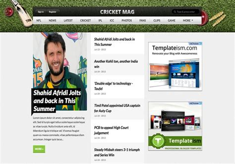 cricket templates for blogger cricket mag blogger template 2014 free download