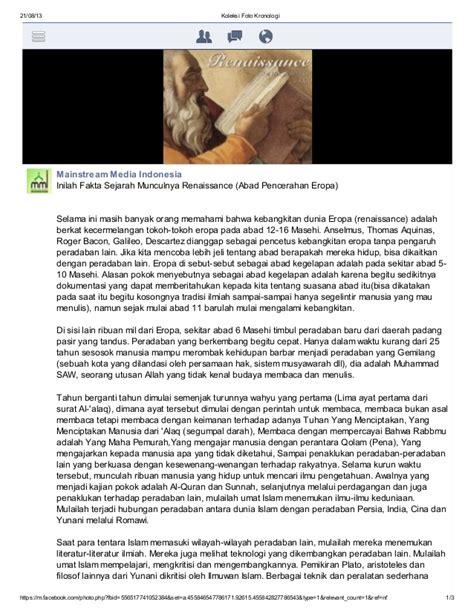 Filsafat Sejarah G W Fheggel inilah fakta sejarah munculnya renaissance abad pencerahan eropa