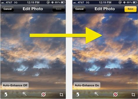 image enhancer make iphone photos look better by using auto enhance