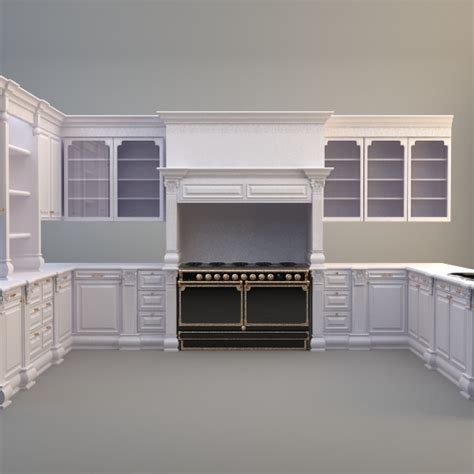 kitchen cabinets models kitchen cabinets appliances 3d model max 3ds cgtrader com