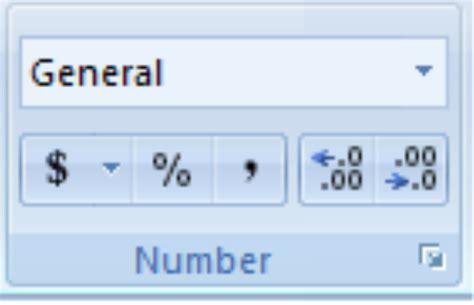 Number Format Excel 2007 | number formatting in excel 2007 office 2007 2010