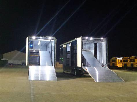 rv exterior flood lights lighting clubhouse trailer company