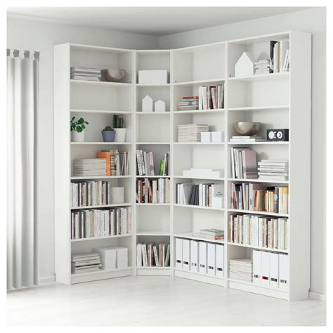 ikea billy corner bookcase billy bookcase white 215 135 x 237 x 28 cm ikea