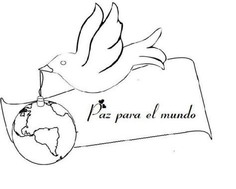 Imagenes Para Colorear Sobre La Paz | dibujos para pintar del d 237 a internacional de la paz