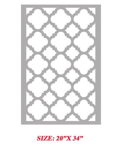 moroccan shapes templates stencil quarterfoil clover moroccan allover