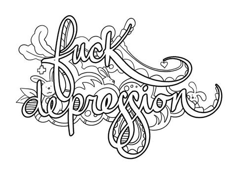 Coloring Pages For Depression Coloring Pages Coloring Therapy Depression