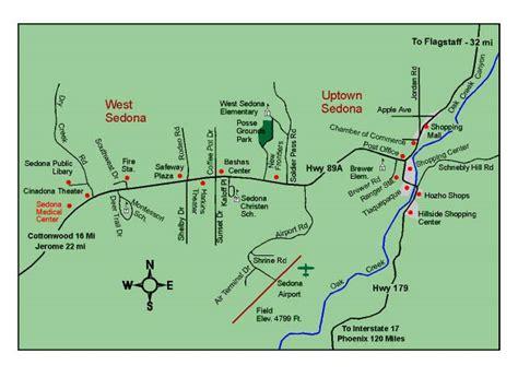 sedona arizona usa map arizona map showing sedona