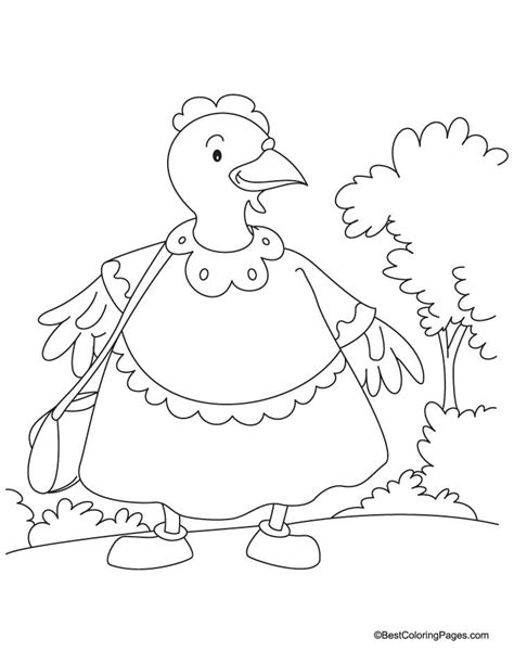 hens coloring pages download and print for free