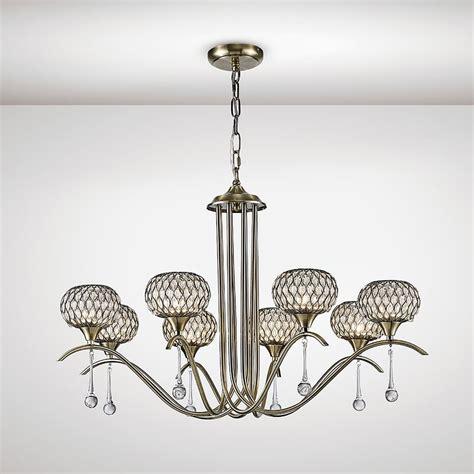 Multi Pendant Ceiling Light Diyas Chelsie 8 Light Multi Arm Ceiling Pendant In Antique Brass Finish Lighting Type From