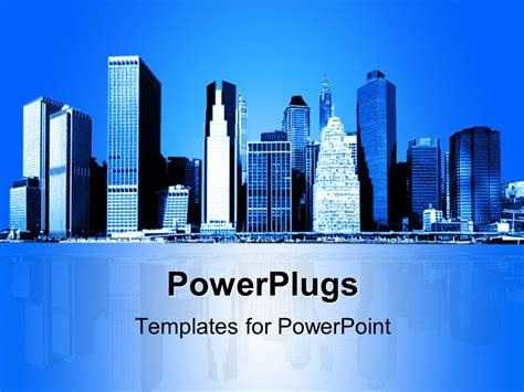 will template new york powerpoint template skyline of new york city with