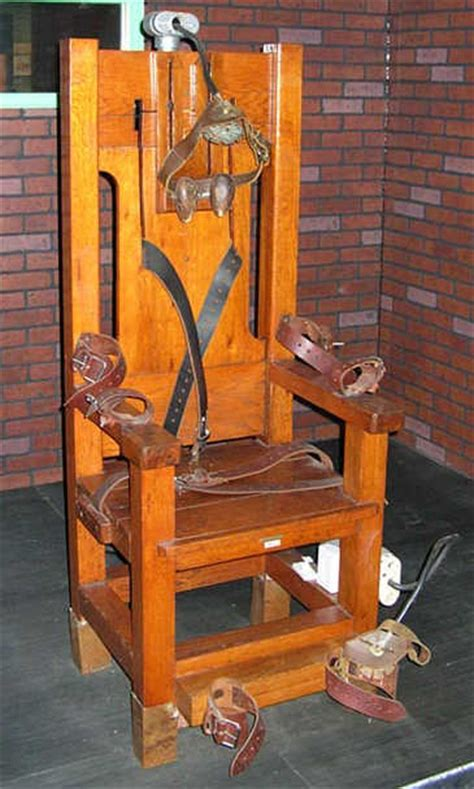 In Electric Chair by An Penalty Tale From The 50s And The Ultimate Irony For A War Zone Reporter