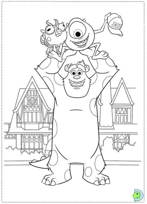 coloring page monsters university monsters university coloring page dinokids org