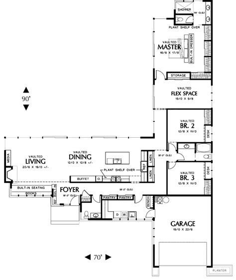 i shaped house plans ranch style house plans l shaped home design and style