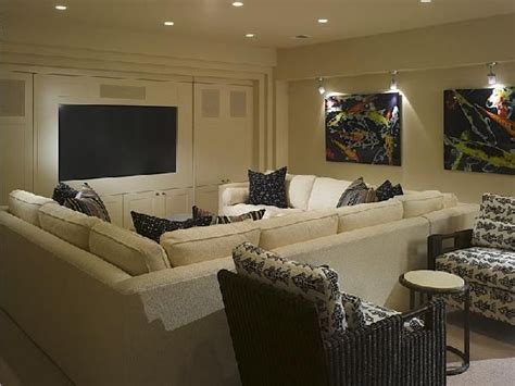 sectional sofas for basements suzie great media room in basement cream sectional sofa