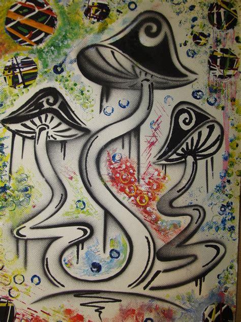 shroom stencil  buzzypsychedelicness  deviantart