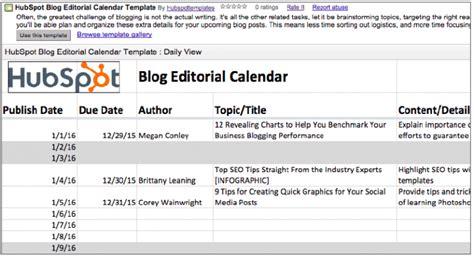 content marketing calendar template hubspot 5 outils gratuits pour cr 233 er un calendrier 233 ditorial de