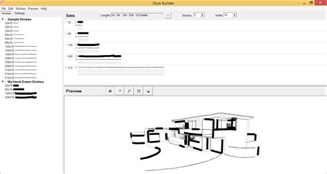 sketchup layout and style builder adding strokes to your style in the sets pane sketchup