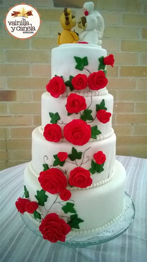 proyecto pastel de boda en fondant reposter a y pasteler a ulloa torta matrimonio rosas vainilla y canela reposter 237 a bogot 225
