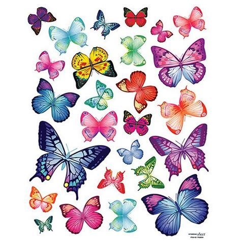 wall butterfly stickers reusable decoration wall sticker decal colorful