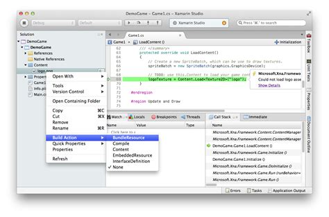 xamarin os x tutorial monogame hello world on mac os x and xamarin studio