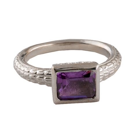 sterling silver amethyst box ring atocha re creation mel