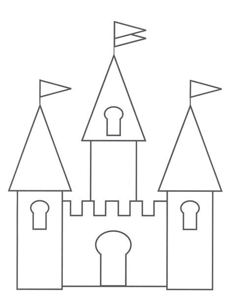 castle drawing template free printable castle coloring pages for