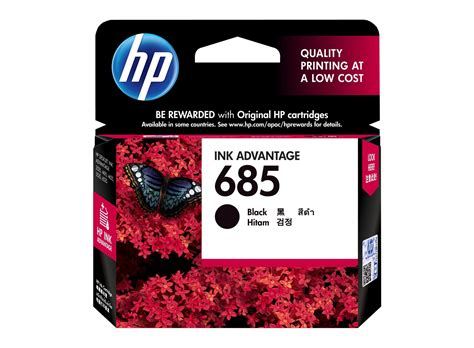 Hp 685 Black hp 685 black original ink advantage cartridge hp store