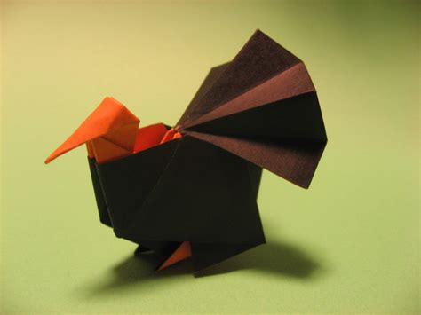 Origami Turkey - origami turkey by h on deviantart