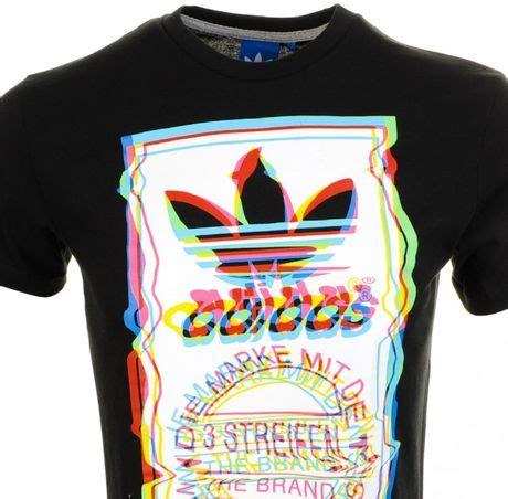 adidas t shirt pattern adidas originals test pattern t shirt in black for men lyst