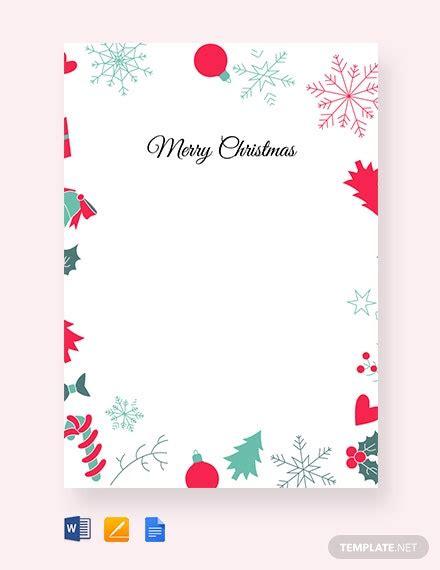 christmas border letter template word google docs