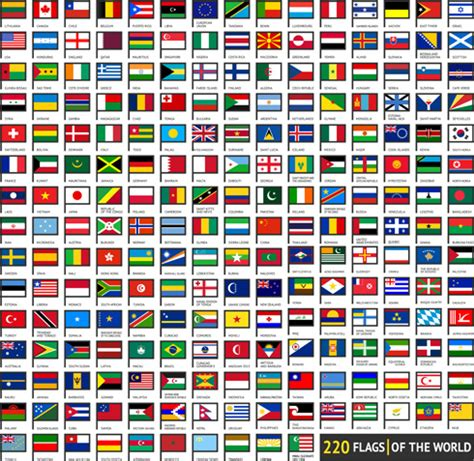 flags of the world to download free vector world flags design elements set free vector in