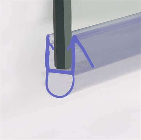 Designer Plastic Curved Bath Door Shower Screen Enclosure Shower Seals For Curved Glass Doors