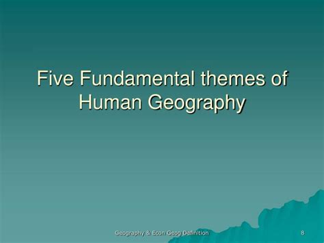 themes of geography space ppt economic geography an introduction powerpoint