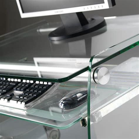 scrivania porta pc in vetro scrivania computer clear porta pc in vetro 75 x 55 cm