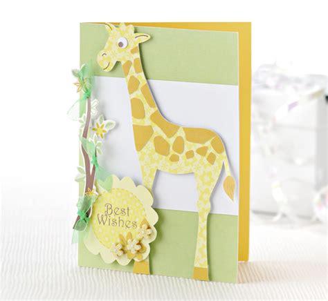Giraffe Papercraft - make a sweet giraffe card papercraft inspirations