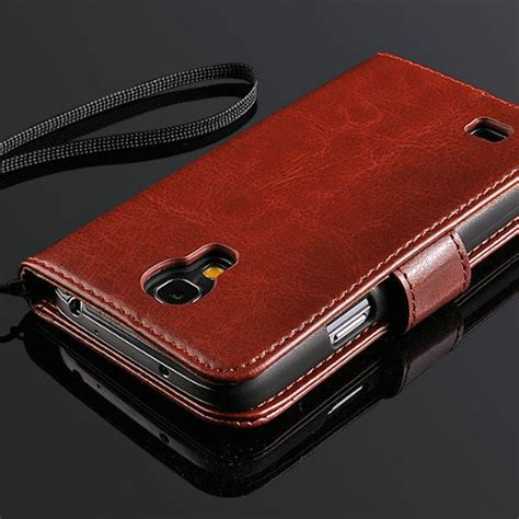 New Luxury Wallet Leather Samsung Galaxy S4 Termurah vintage wallet stand design leather for samsung