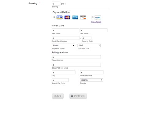 Credit Card Form Jotform Paypal Pro Ability To Check The Credit Card Information Before To Submit The Form