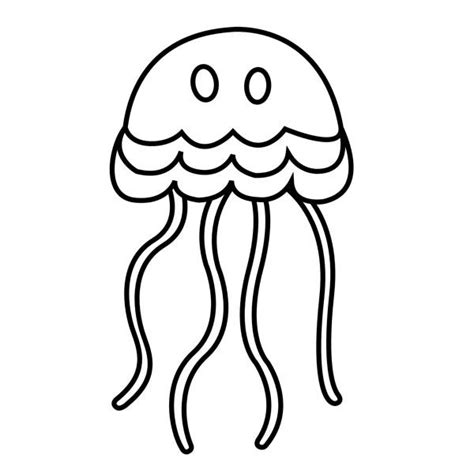simple cartoon jellyfish coloring page download print