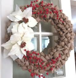 Diy christmas wreath ideas burlap and faux berries click pick for 24