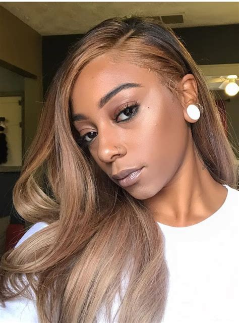 lightened front hair hairstylist light brown human hair lace front wigs