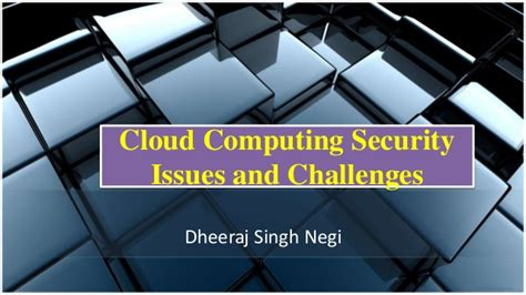 cloudputing security issues and challenges ppt cloud computing security issues and challenges