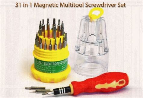 Obeng Multifungsi Screwdrivers 8 In 1 Serbaguna Lu Unik Murah jual obeng set serbaguna 31 in 1 multifungsi elkektro hp screwdriver pocket toko sinar terang
